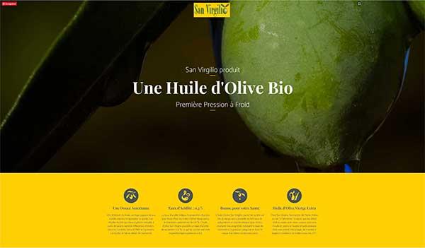 création site internet huile d'olive